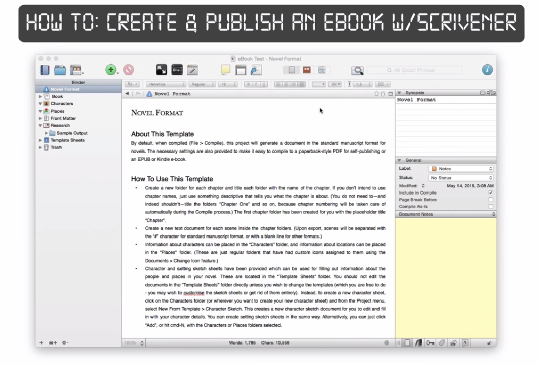 How To: Create/Publish an eBook with Scrivener