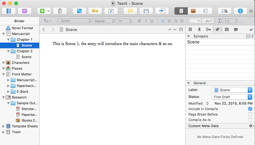 Scrivener Basics: Interface