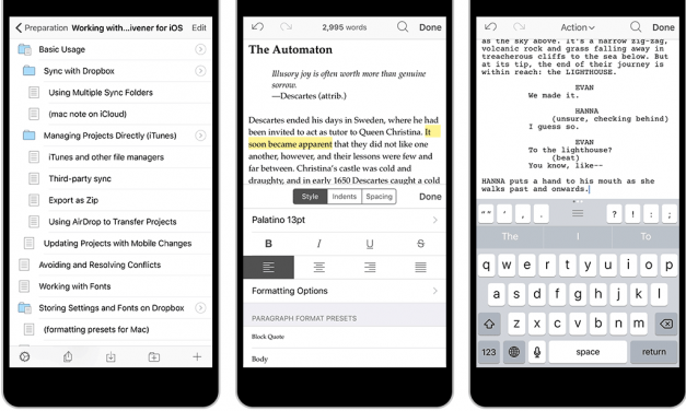 Scrivener for iOS Overview
