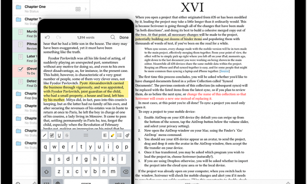 Sponsor: The Best Writing Tool Find's Its Way to iOS (Scrivener)